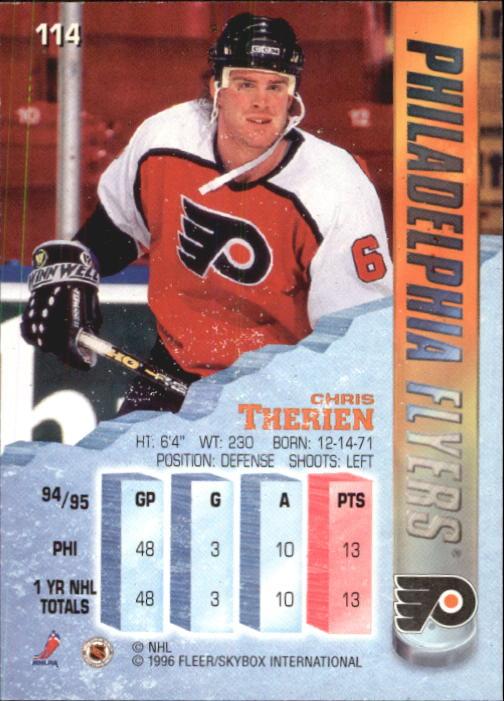 1995-96 Metal #114 Chris Therien back image