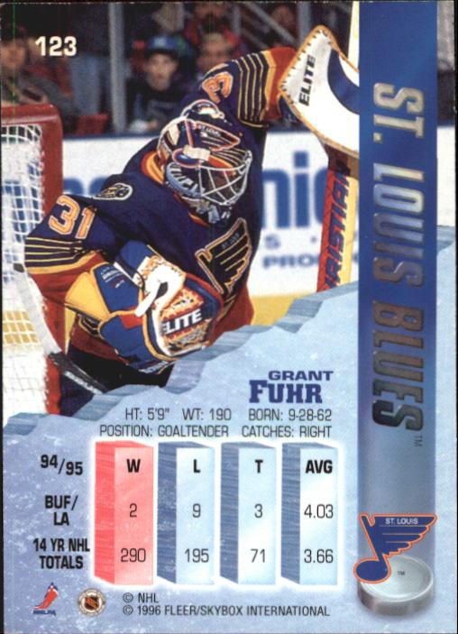 1995-96 Metal #123 Grant Fuhr back image