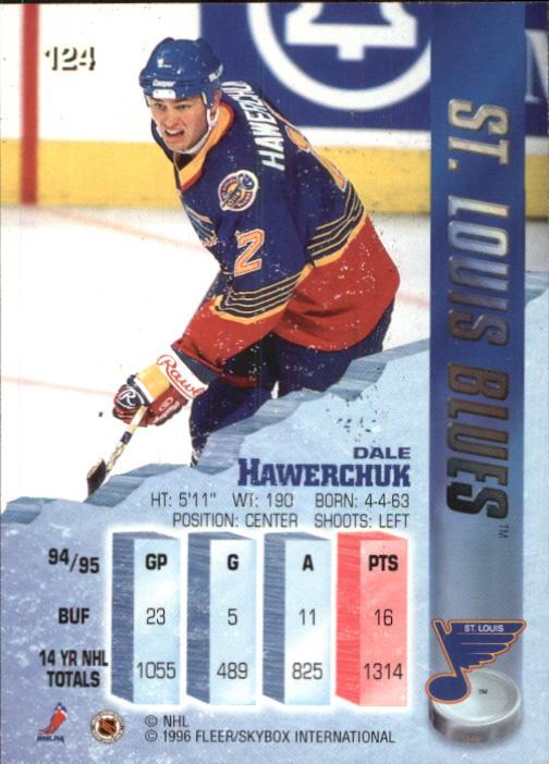 1995-96 Metal #124 Dale Hawerchuk back image
