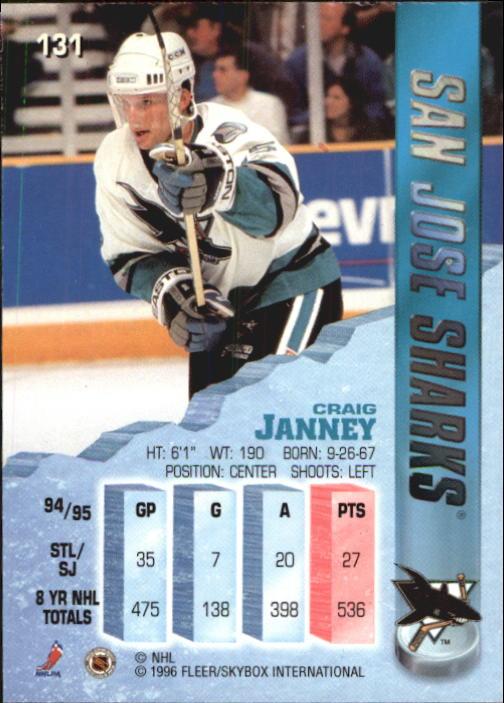 1995-96 Metal #131 Craig Janney back image