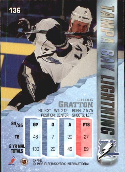 1995-96 Metal #136 Chris Gratton back image