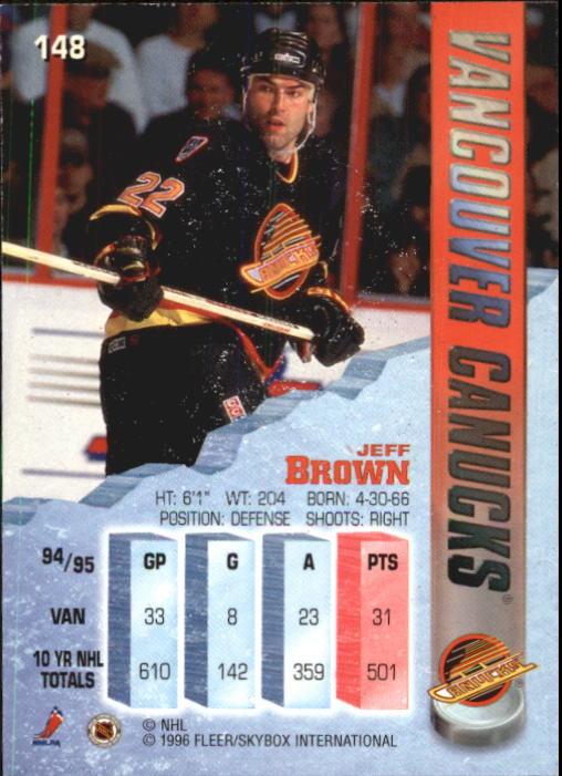 1995-96 Metal #148 Jeff Brown back image