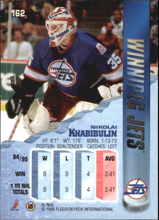 1995-96 Metal #162 Nikolai Khabibulin back image