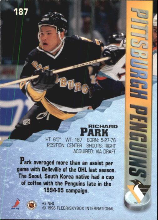 1995-96 Metal #187 Richard Park back image