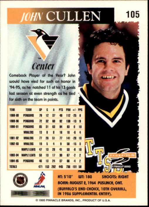 1995-96 Score #105 John Cullen back image