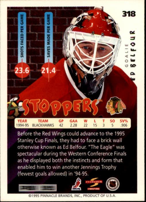 1995-96 Score #318 Ed Belfour ST back image