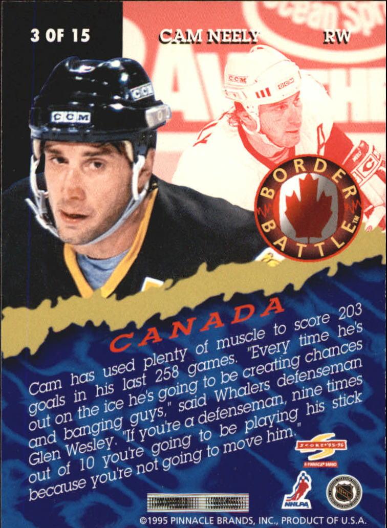 1995-96 Score Border Battle #3 Cam Neely back image