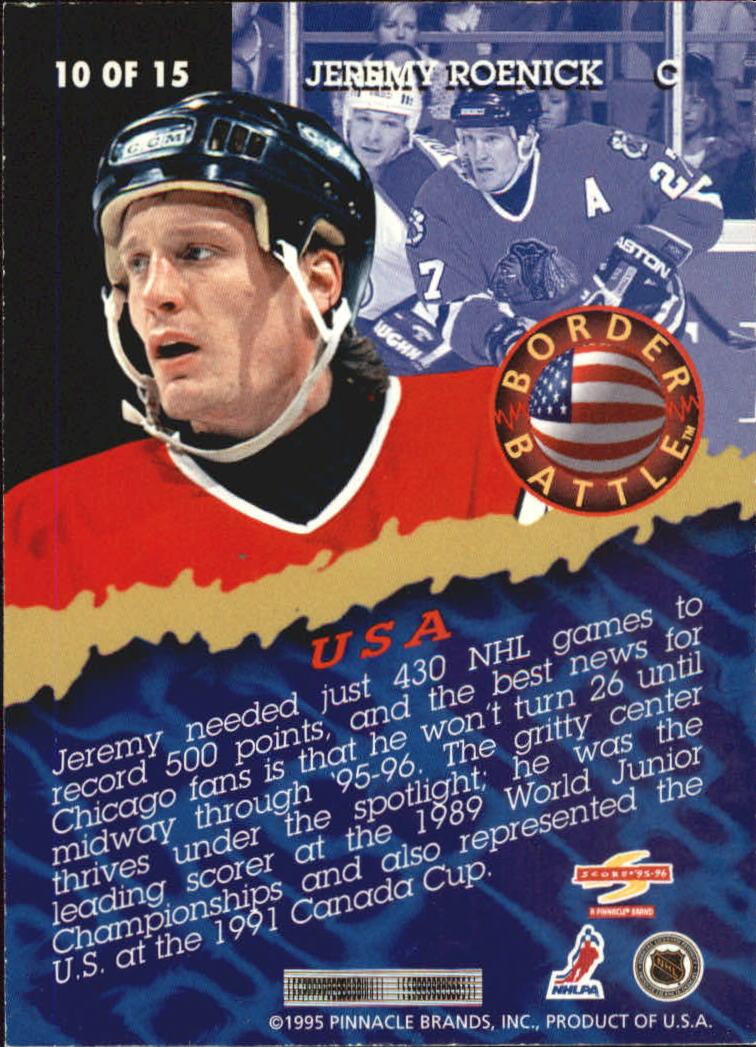 1995-96 Score Border Battle #10 Jeremy Roenick back image