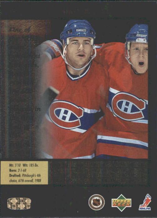 1995-96 SP #72 Mark Recchi back image