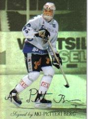 1995-96 Finnish SISU Limited Signed and Sealed #4 Aki Berg