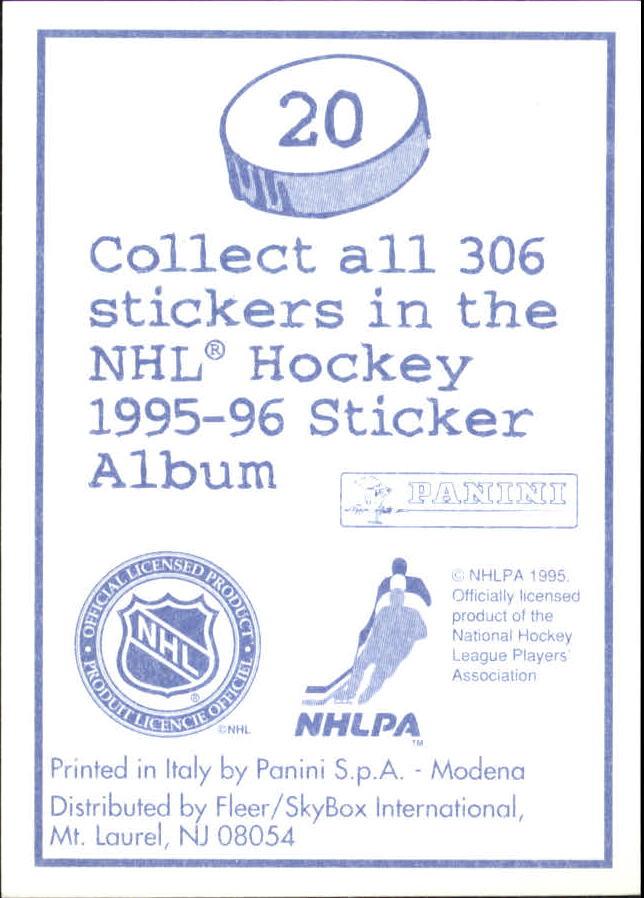 1995-96 Panini Stickers #20 Alexei Zhitnik back image