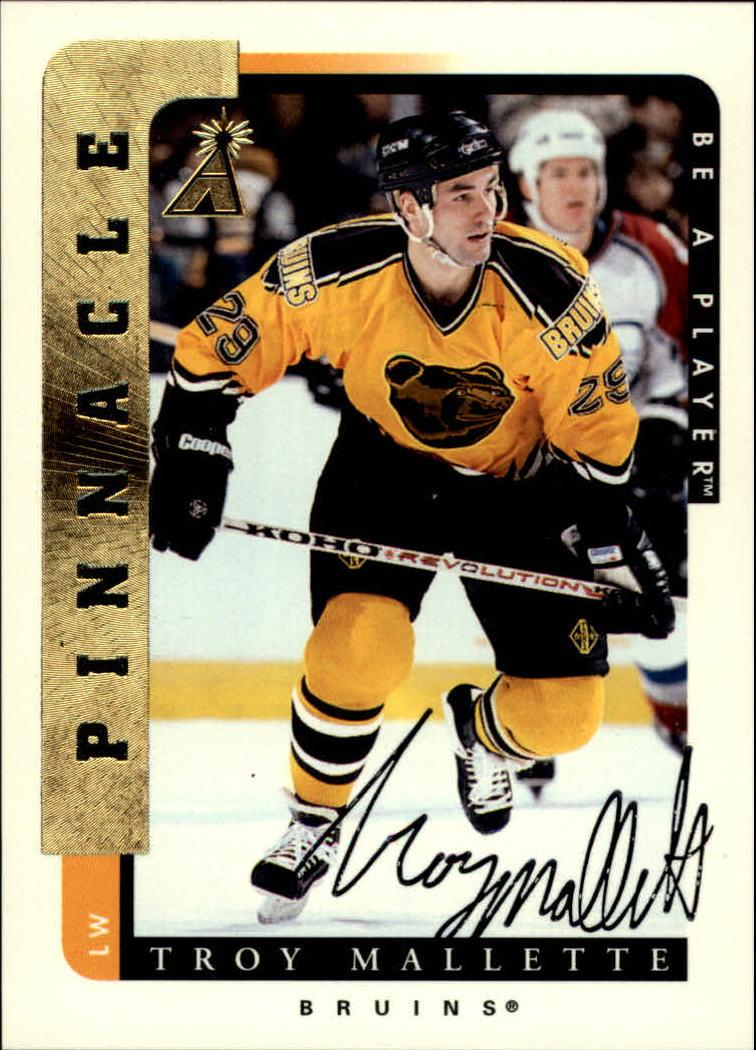 1996-97 Be A Player Autographs #72 Troy Mallette