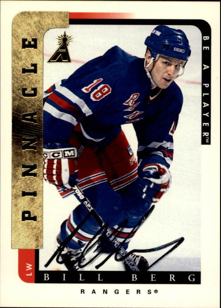 1996-97 Be A Player Autographs #84 Bill Berg