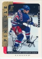 1996-97 Be A Player Autographs #118 Alexander Karpovtsev