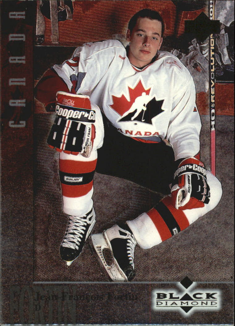 1996-97 Black Diamond #4 Jean-Francois Fortin RC