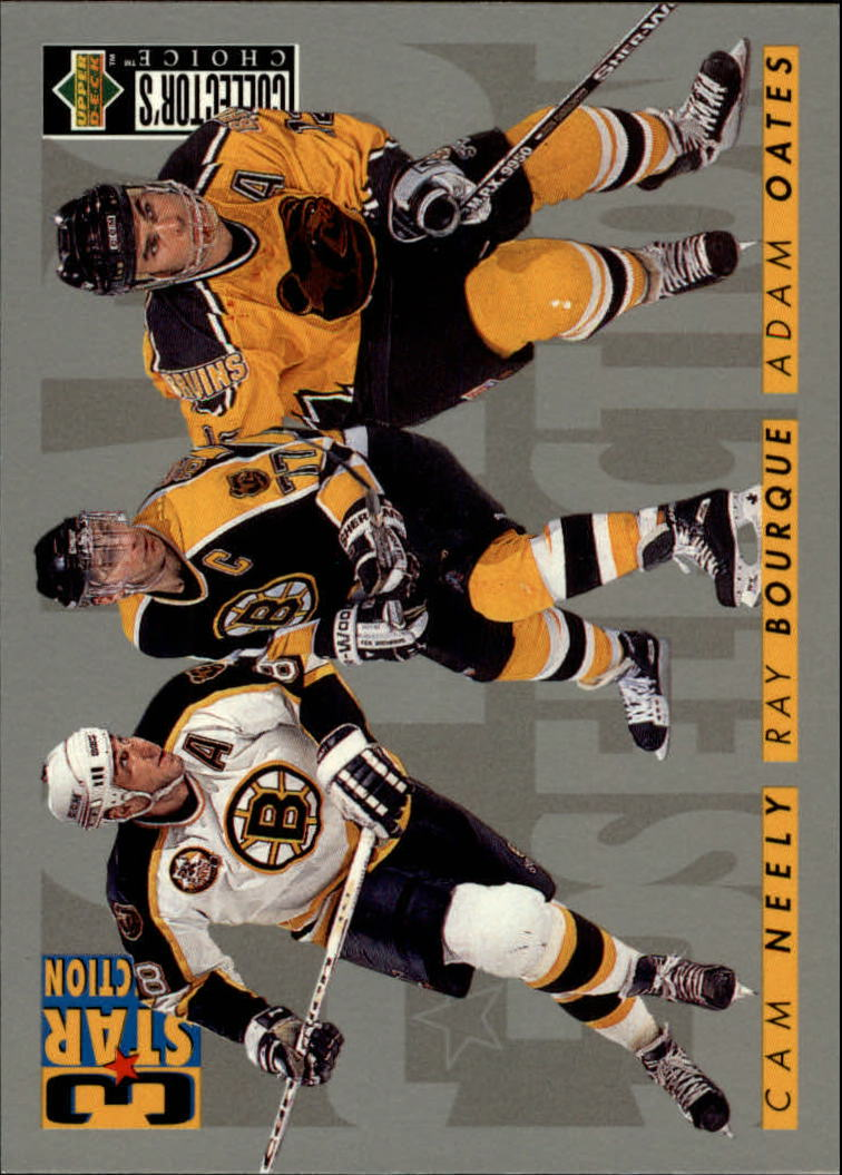 1996-97 Collector's Choice #310 Oates/Bourque/Neely