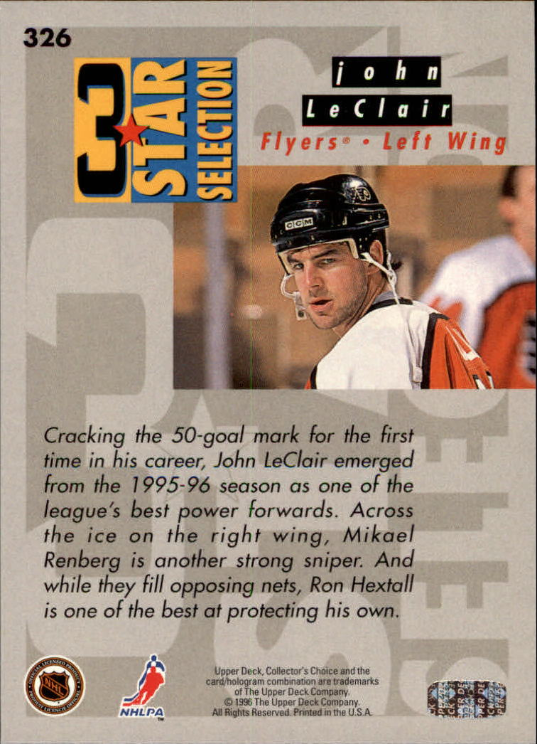 1996-97 Collector's Choice #326 Hextall/LeClair/Renberg back image