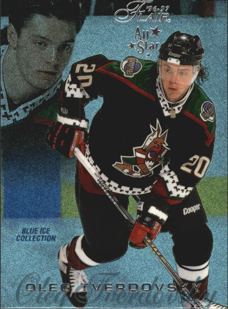 1996-97 Flair Blue Ice #B74 Oleg Tverdovsky