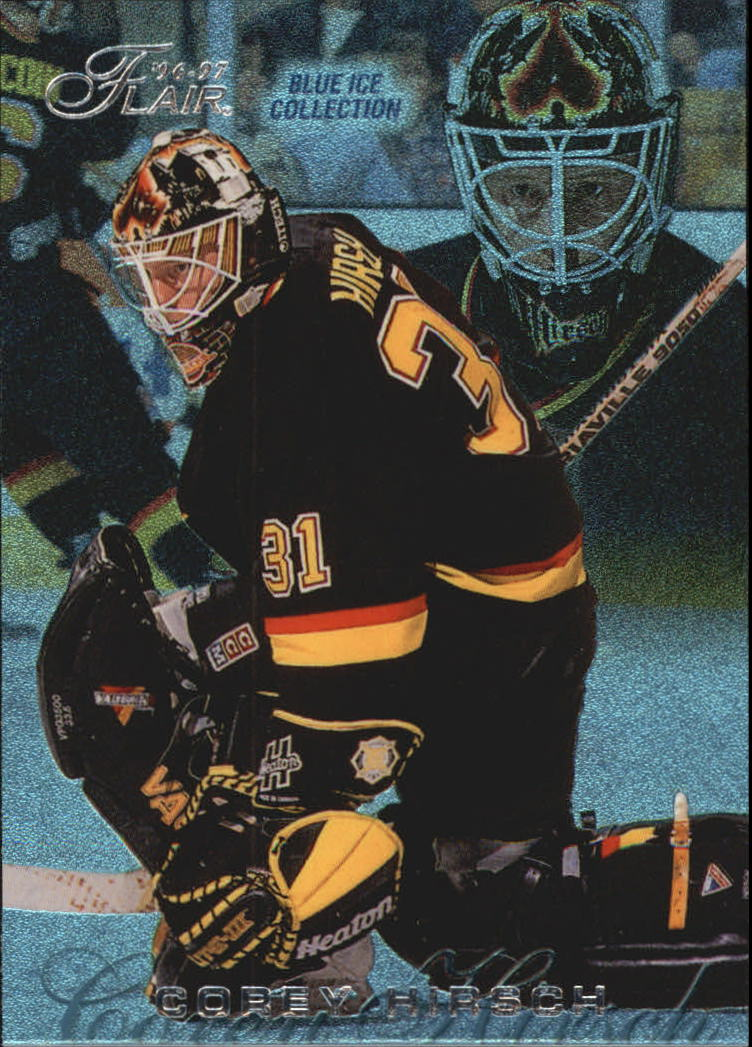 1996-97 Flair Blue Ice #B94 Corey Hirsch