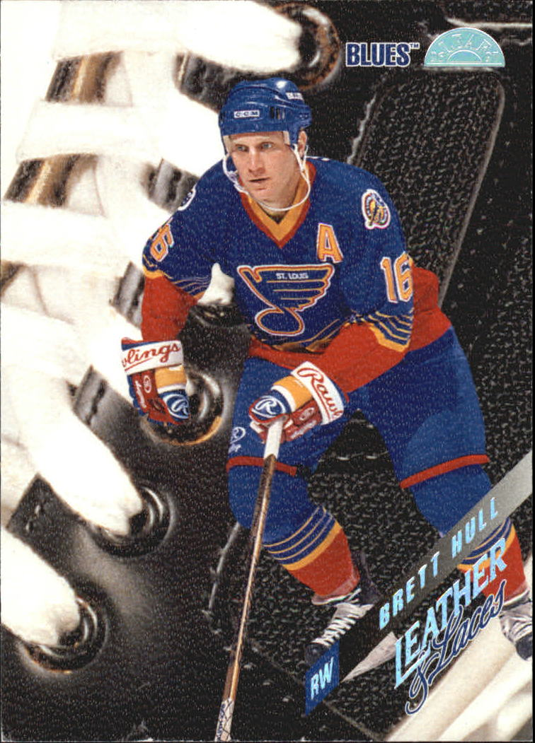 1996-97 Leaf Leather And Laces #3 Brett Hull