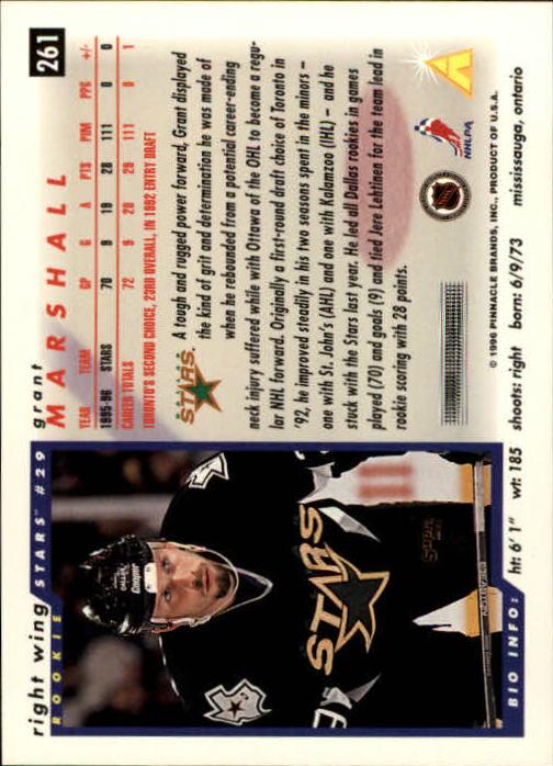 1996-97 Score #261 Grant Marshall back image