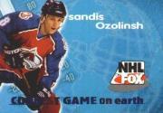 1996-97 SkyBox Impact NHL on Fox #17 Sandis Ozolinsh