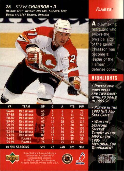1996-97 Upper Deck #26 Steve Chiasson back image