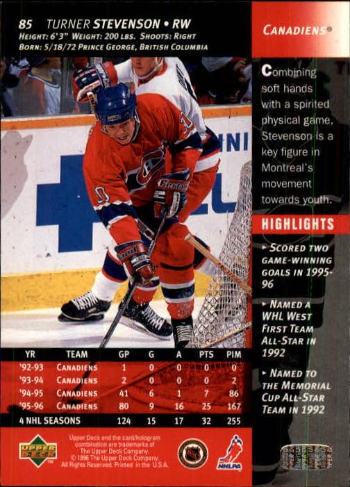 1996-97 Upper Deck #85 Turner Stevenson back image
