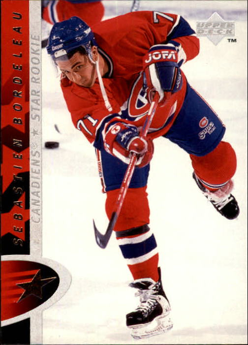 1996-97 Upper Deck #193 Sebastien Bordeleau RC
