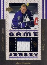 1996-97 Upper Deck Game Jerseys #GJ13 Mats Sundin UER