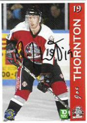 1996-97 Sault Ste. Marie Greyhounds Autographed #23 Joe Thornton