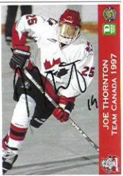 1996-97 Sault Ste. Marie Greyhounds Autographed #24 Joe Thornton/Team Canada 1997