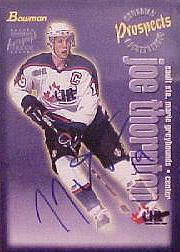 1997 Bowman CHL Autographs #125 Joe Thornton