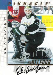1997-98 Be A Player Autographs #249 Ed Belfour SP
