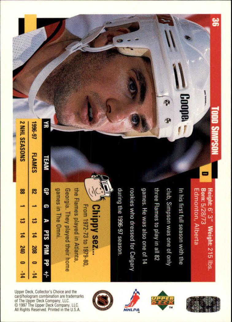 1997-98-Collector-039-s-Choice-Hockey-1-250-Your-Choice-GOTBASEBALLCARDS thumbnail 69