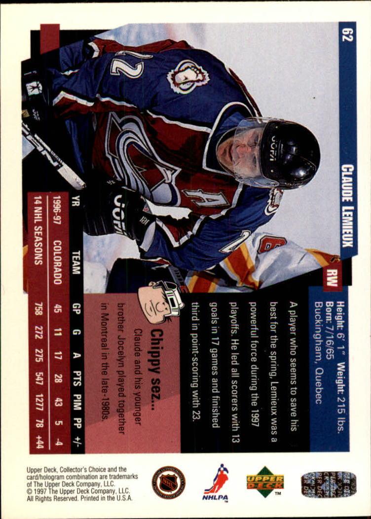 1997-98-Collector-039-s-Choice-Hockey-1-250-Your-Choice-GOTBASEBALLCARDS thumbnail 121
