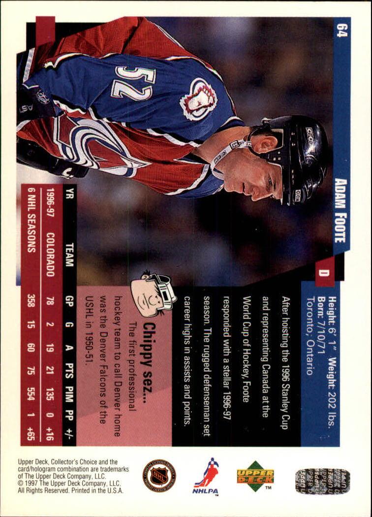 1997-98-Collector-039-s-Choice-Hockey-1-250-Your-Choice-GOTBASEBALLCARDS thumbnail 125