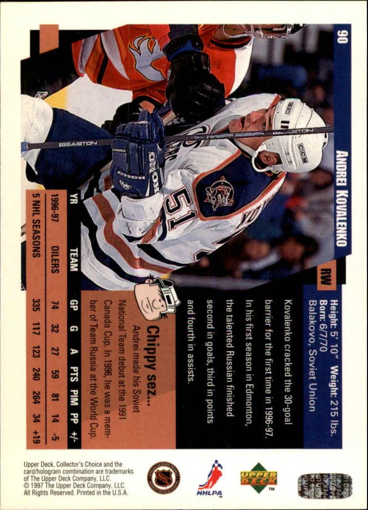 1997-98-Collector-039-s-Choice-Hockey-1-250-Your-Choice-GOTBASEBALLCARDS thumbnail 161