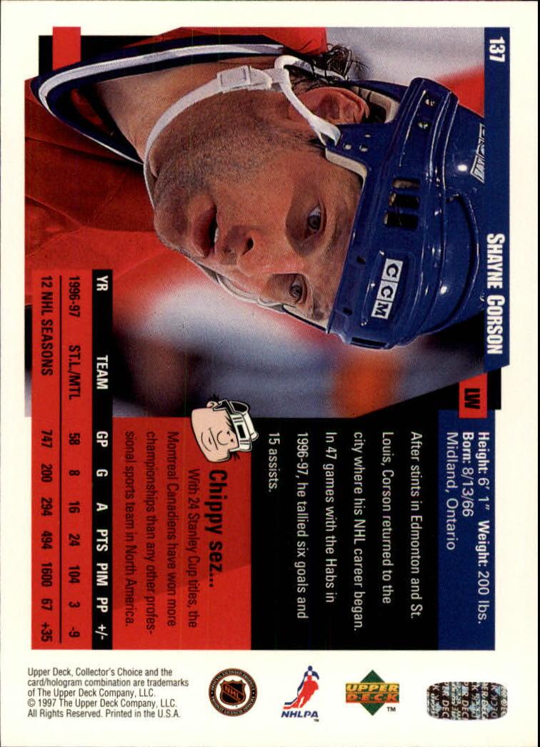1997-98-Collector-039-s-Choice-Hockey-1-250-Your-Choice-GOTBASEBALLCARDS thumbnail 249