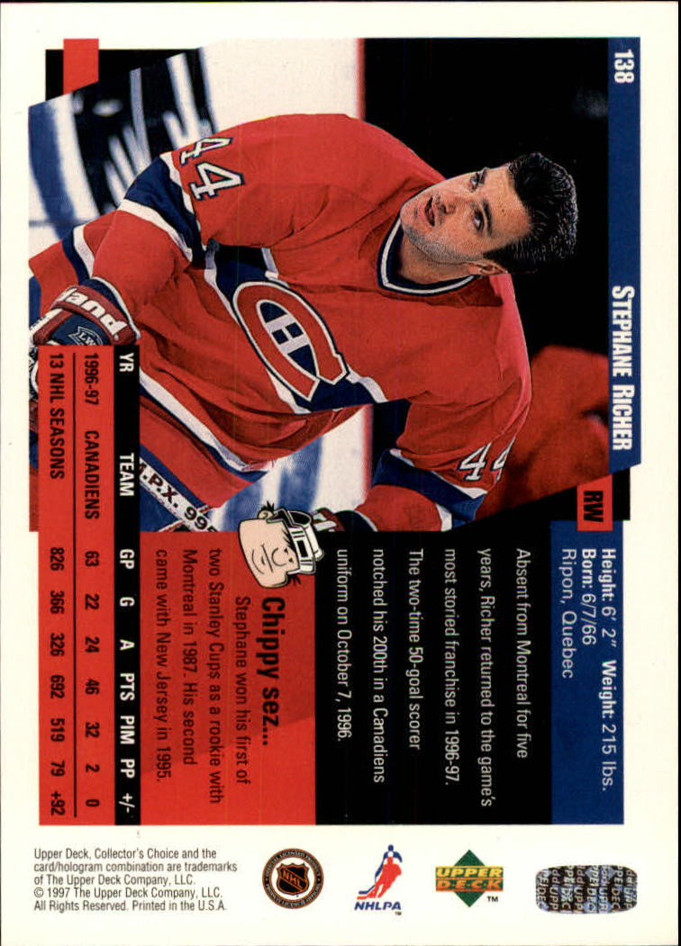 1997-98-Collector-039-s-Choice-Hockey-1-250-Your-Choice-GOTBASEBALLCARDS thumbnail 251