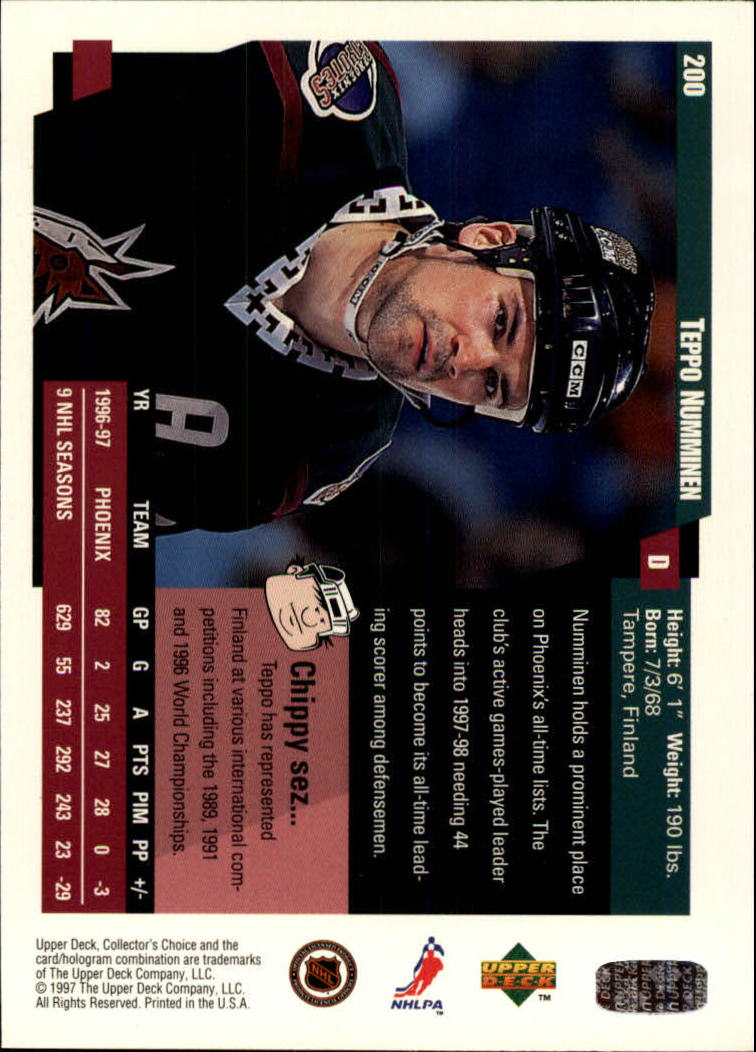 1997-98-Collector-039-s-Choice-Hockey-1-250-Your-Choice-GOTBASEBALLCARDS thumbnail 369