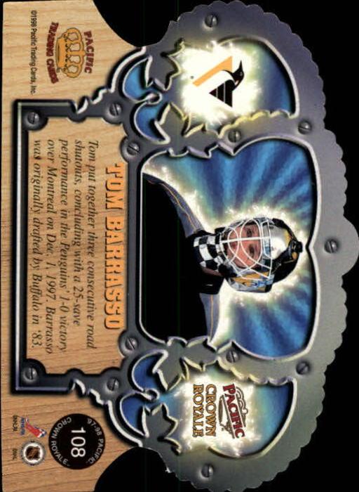 1997-98 Crown Royale #108 Tom Barrasso back image