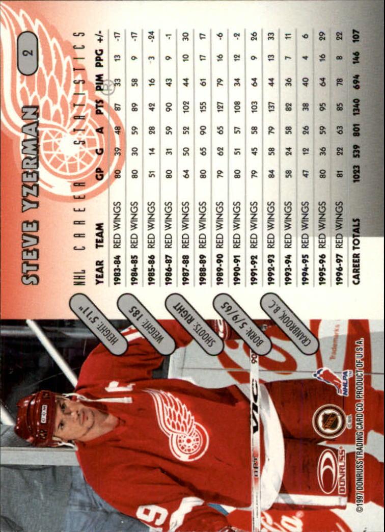 1997-98 Donruss #2 Steve Yzerman back image