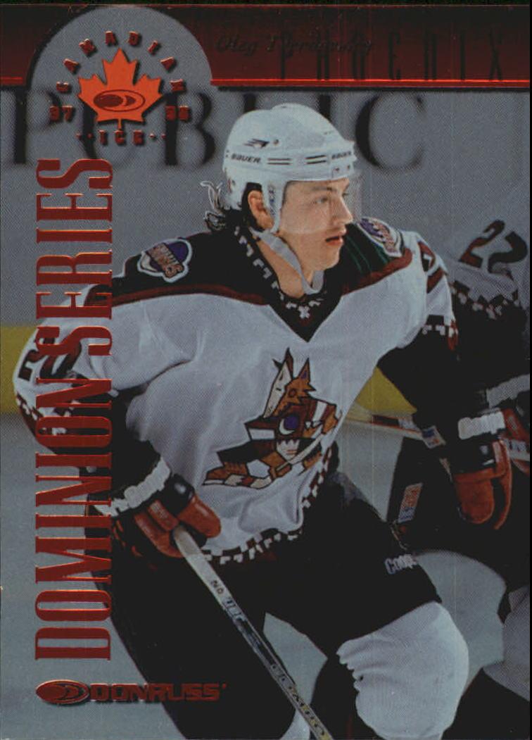 1997-98 Donruss Canadian Ice Dominion Series #62 Oleg Tverdovsky