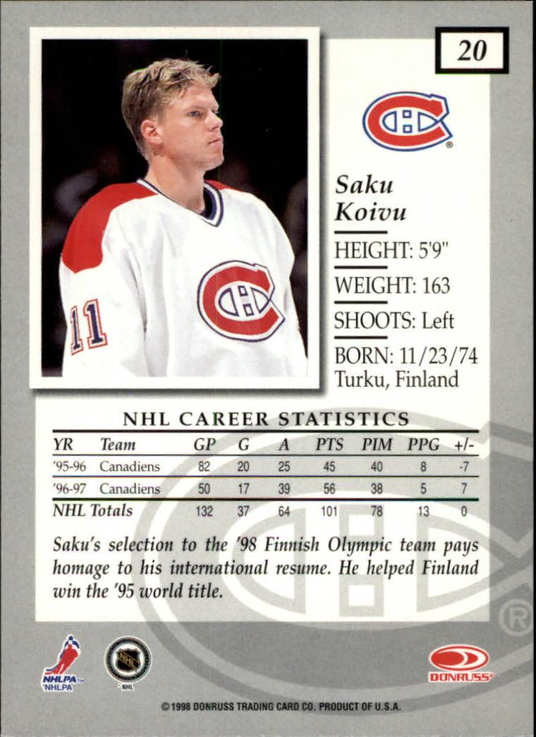 1997-98-Donruss-Elite-Hockey-1-150-Your-Choice-GOTBASEBALLCARDS thumbnail 37