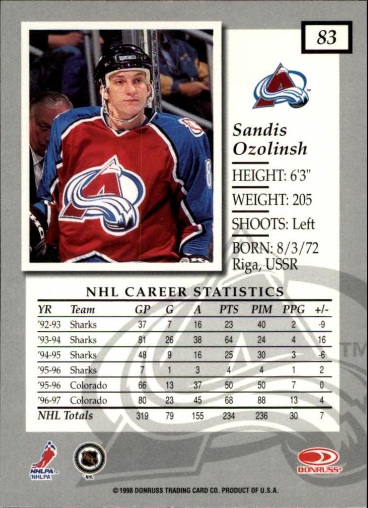 1997-98-Donruss-Elite-Hockey-1-150-Your-Choice-GOTBASEBALLCARDS thumbnail 151