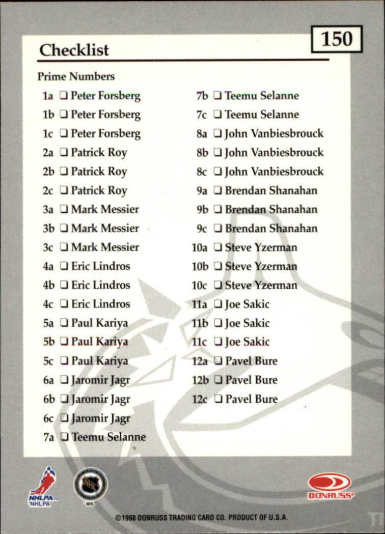 1997-98-Donruss-Elite-Hockey-1-150-Your-Choice-GOTBASEBALLCARDS thumbnail 279