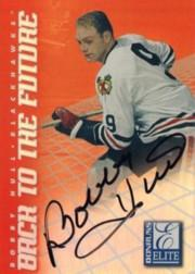 1997-98 Donruss Elite Back to the Future Autographs #6 Brett Hull/Bobby Hull