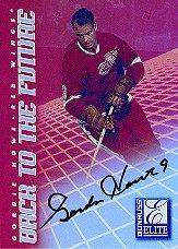 1997-98 Donruss Elite Back to the Future Autographs #8 Gordie Howe/Steve Yzerman