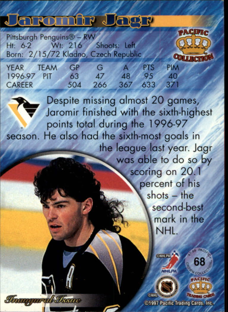 1997-98 Pacific Copper #68 Jaromir Jagr back image